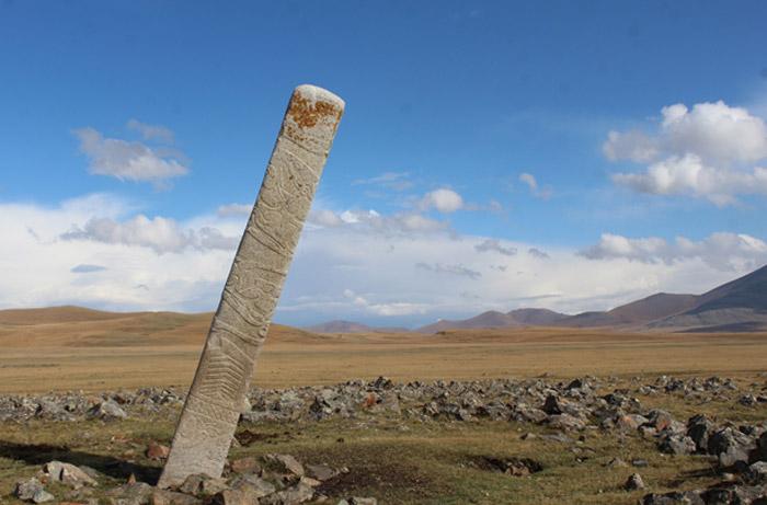 a stone pillar