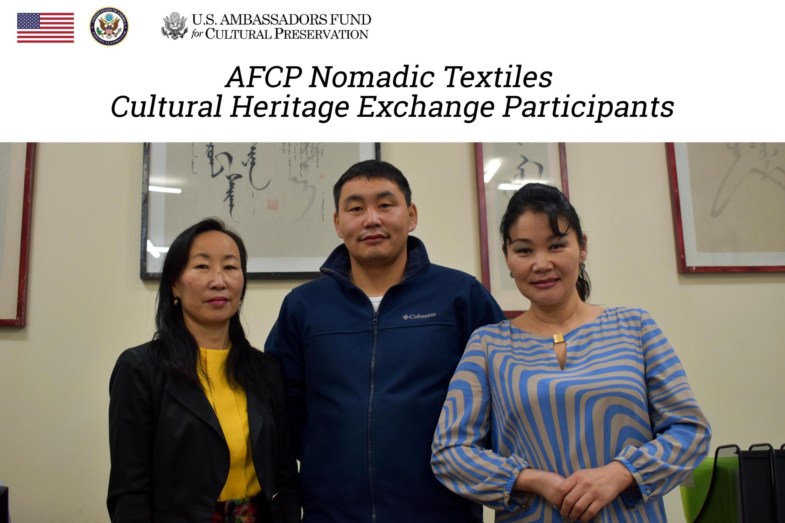 AFCP Nomadic Textiles Cultural Heritage Exchange Participants