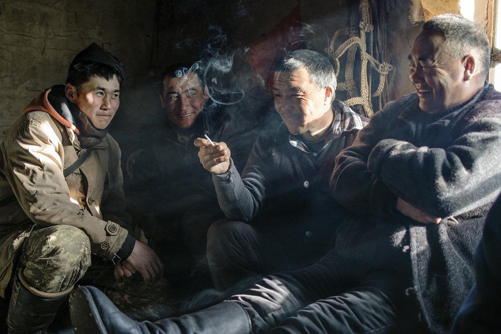 men smoking