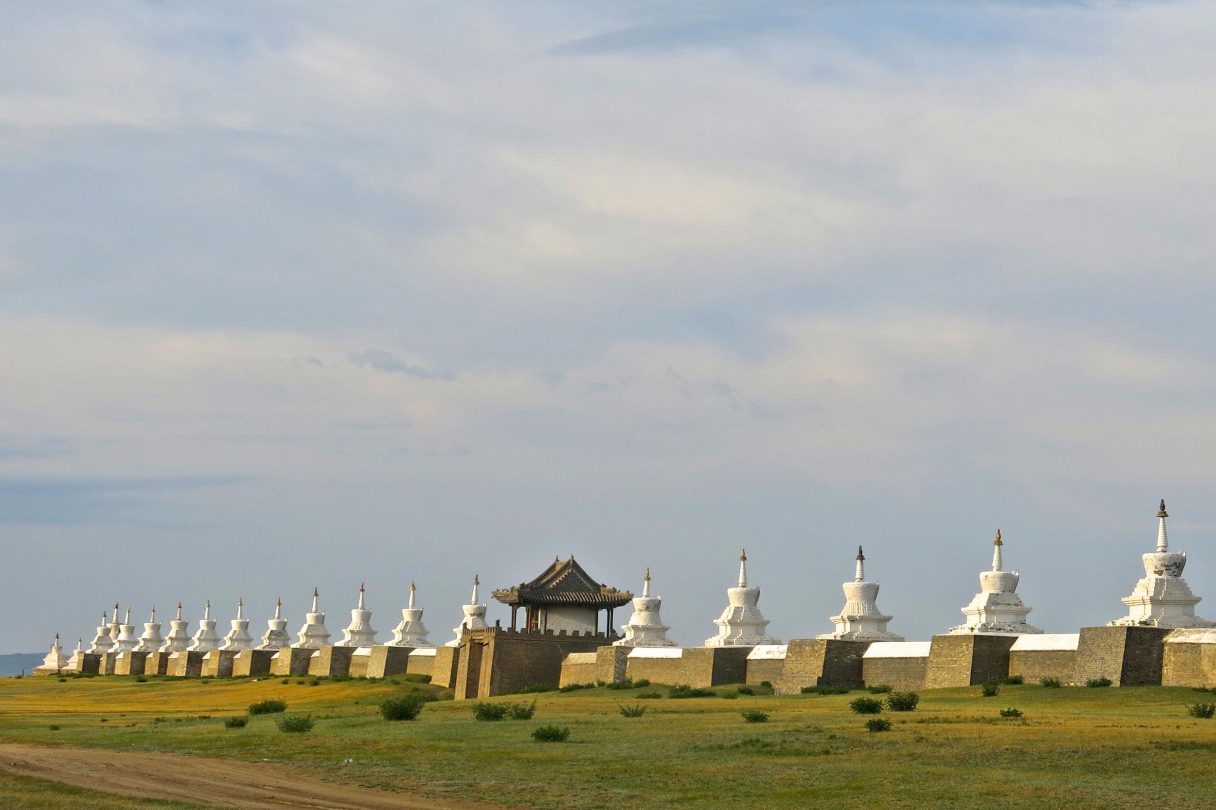 Walls at the ancient Mongolian capital of Kharkhorin